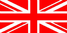 UNION JACK RED & WHITE - 8 X 5 FLAG